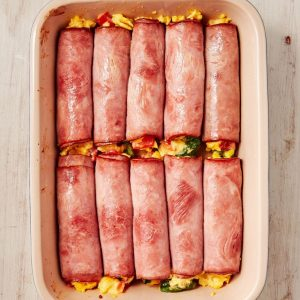 make ahead breakfast ham and cheese roll ups
